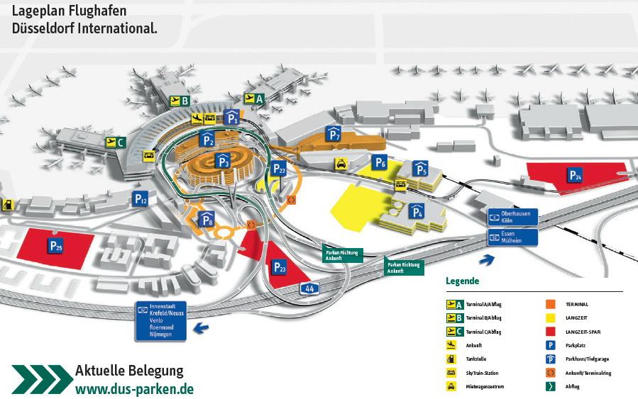 Схема аэропорта Дюссельдорфа и